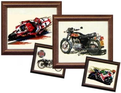 cross stitch motorcycle