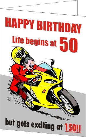 Gifts For Bikers Motorcycle Birthday Card