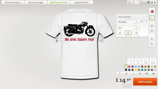 Gifts for bikers design my own t shirt for Where can i create my own shirt